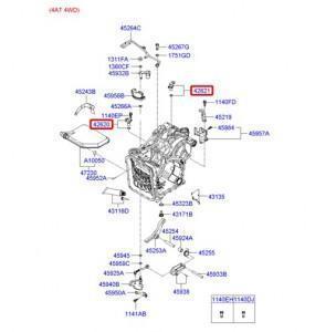 схема АКПП Hyundai Santa Fe