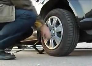 замене колодок на Hyundai Getz