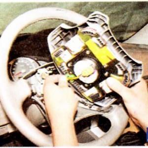 Как снять руль на Хендай Туксон(фото инструкция)