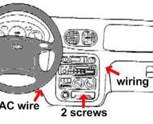 Как снять радио/магнитолу с Hyundai Accent (94, 95, 96, 97, 98, 99)