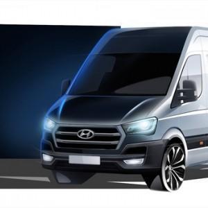 Hyundai опубликовал несколько фотографии будущего фургона H350