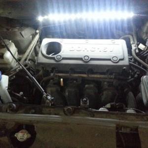 Диодная подсветка под капот(мотора) Hyundai ix 35