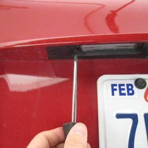 Замена ламп в подсветке номере Hyundai Tucson
