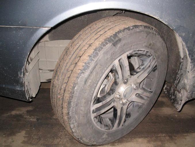 снять колесо Hyundai Getz