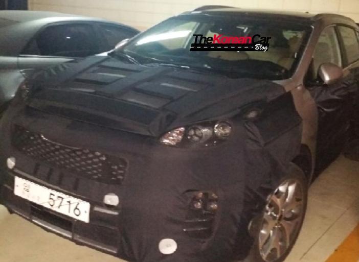 Новый Kia Sportage в Южной Корее(камуфляж)