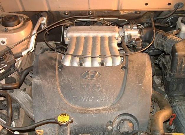 Замена свечей на Hyundai Santa Fe 2.7L V6(фото инструкция)