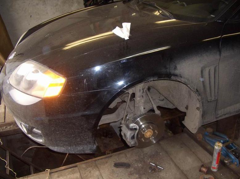 Фото отчет по замене тормозных дисков на Hyundai Tiburon