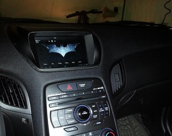 Фото отчет по установки планшета на Hyundai Genesis купе
