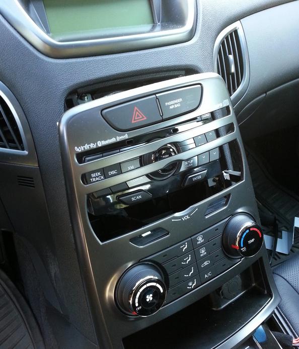 демонтаж панели Hyundai Genesis