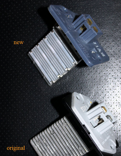 старый новый резистор